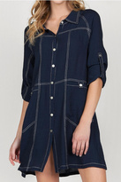 Monoreno Dark Wash Denim Dress