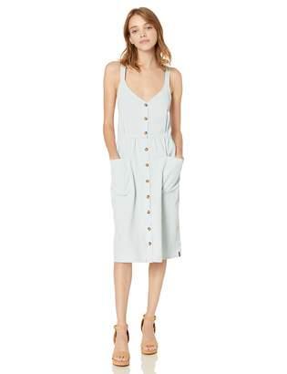 Volcom Junior's Women's Re Cording Midi Length Babydoll Dress
