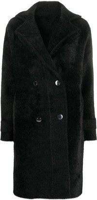 Pinko Double-Breasted Midi Coat