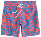 "J.Crew 7""Board Shorts In Palm Leaves Print"