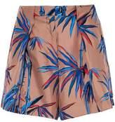 Emilio Pucci Printed Silk-Twill Mini Shorts