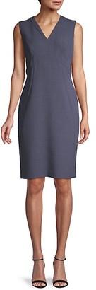 Lafayette 148 New York Sleeveless Sheath Dress