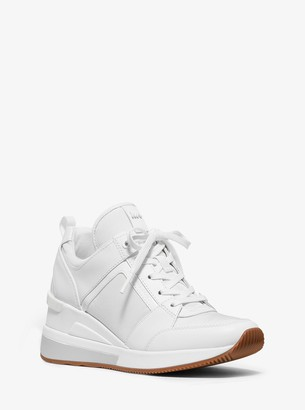 MICHAEL Michael Kors Georgie Leather and Canvas Trainer
