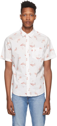 Levi's Levis White and Pink Flamingo Sunset Standard Shirt