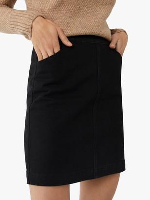 Warehouse Denim A-Line Mini Skirt