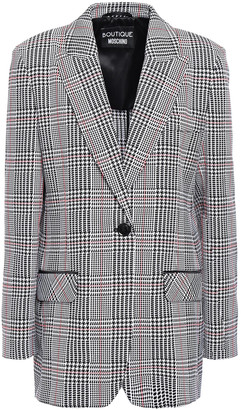 Boutique Moschino Neon-trimmed Checked Jacquard Blazer