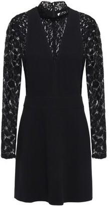 Givenchy Lace-paneled Crepe Mini Dress