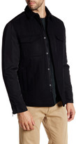 Kenneth Cole New York Collared Snap Button and Zip Jacket