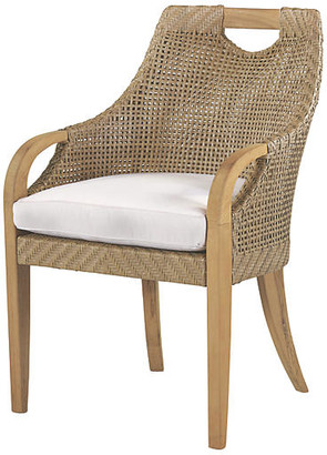 Lane Venture Edgewood Armchair - Natural Sunbrella