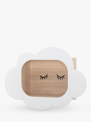 Bloomingville MINI Cloud Wall Mounted Display Box, White/Natural