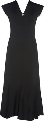 Victoria Beckham Classic Flared Crepe Midi Dress