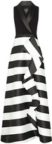 Adrianna Papell Stripe Mikado Dress
