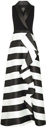 Adrianna Papell Stripe Mikado Dress