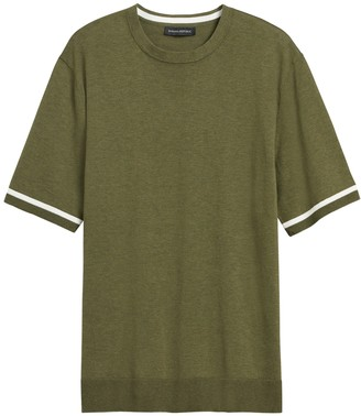 Banana Republic Cotton Short-Sleeve Sweater