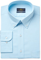 Club Room Estate Men's Classic-Fit Wrinkle Resistant Aqua Pin Point Solid Dress Shirt, Created for Macy's