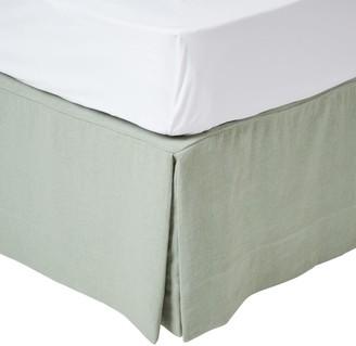 OKA Super King Bed Valance - Eau De Nil