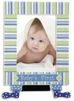 Gorham 5-Inch x 7-Inch Little Boy Blue Baby's First Picture Frame with Feet