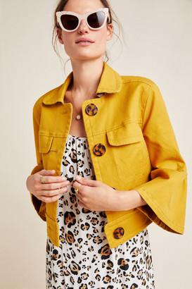 Anthropologie Nora Flounce Sleeve Jacket