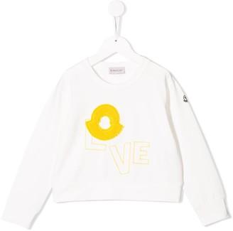 Moncler Enfant Love embroidered sweatshirt