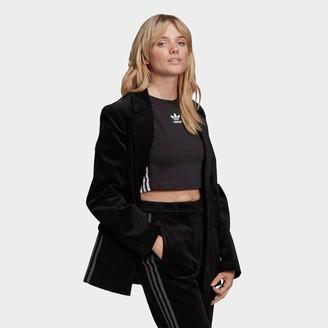 adidas Women's Velvet Corduroy Blazer