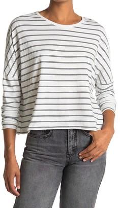 Frank And Eileen Striped Long Sleeve Crop T-Shirt
