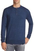 Superdry Orange Label Cotton Cashmere Grandad Henley Sweater