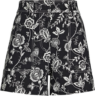 Derek Lam 10 Crosby Odette Floral Cotton Shorts