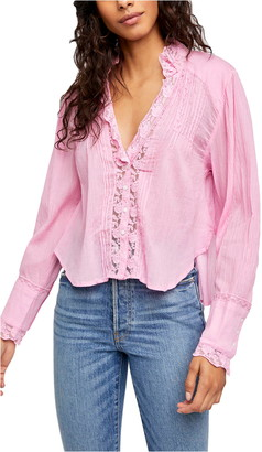 Free People Clemence Button Front Shirt