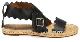 Chloé Lauren Flat Leather Sandals