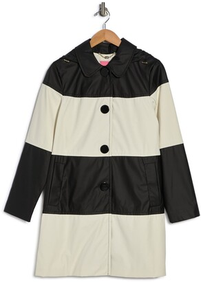 Kate Spade Hooded Colorblock Rain Coat