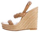 Valentino Braided Espadrille Wedge Sandals