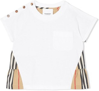 BURBERRY KIDS Icon Stripe contrast T-shirt
