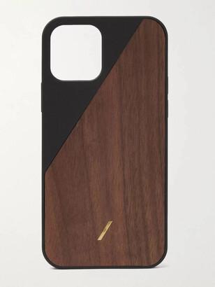 Native Union Clic Wooden Tpu-Trimmed Walnut Iphone 12 Case
