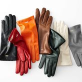 Women's Classic Leather Gloves, Bright-Toned