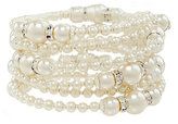 Cezanne Mixed Pearls Coil Bangle
