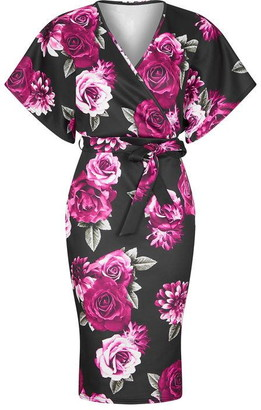 Yumi Digital Floral Bodycon Dress