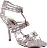 Hot Gossip Shoes Women's Alisha-01 Patent High Stiletto Heel Pumps with Elastic Straps and Rhinestone Straps 9 D(M) US