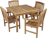 Asstd National Brand Edgewater 5-pc. Outdoor Teak Dining Set