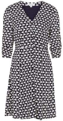 Emily And Fin Swan Print Knee Length Dress - 8
