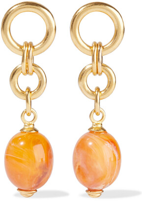 Ben-Amun 24-karat Gold-plated Bead Earrings
