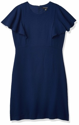 Sharagano Women's Flutter Sleeve Dress