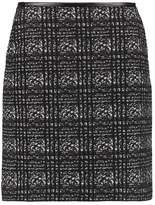 Comma Aline skirt grey/black check
