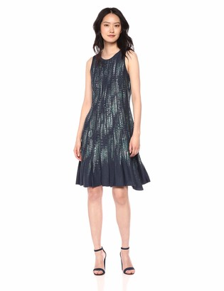 Nic+Zoe Women's Lightening Streaks Twirl Dress