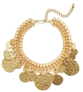 Kenneth Jay Lane Textured Coin Collar Necklace