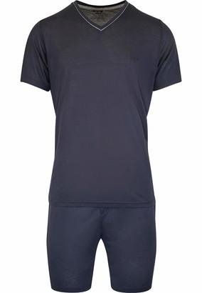 Hom Men - Short Pyjama 'Relax' - 2-Set Sleepwear - Navy - XL