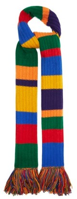 The Elder Statesman Longstocking Striped Cashmere Scarf - Multi