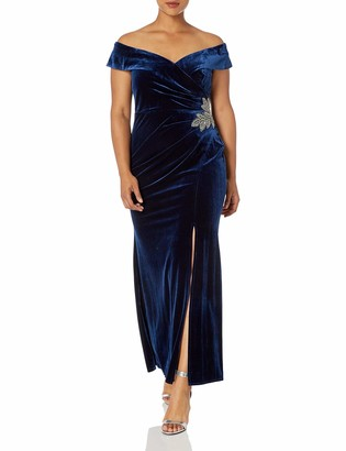 Alex Evenings Women's Plus Size Long Velvet Dress