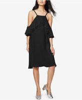 Rachel Roy Ruffled Cold-Shoulder Dress