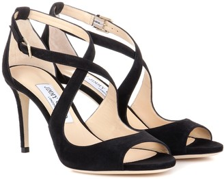 Jimmy Choo Emily 85 suede sandals
