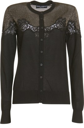 Dolce & Gabbana Lace Detailed Cardigan